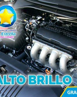ALTO BRILLO P/MOTOR, LLANTAS Y TABLERO