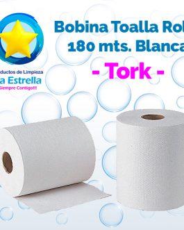 BOBINA TOALLA ROLLO P/MANOS BLANCA 180 MTS. // TORK **PIEZA**
