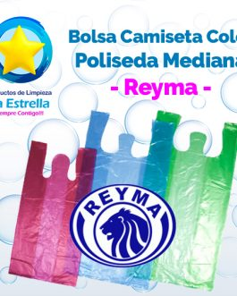 BOLSA CAMISETA COLOR POLISEDA MEDIANA // REYMA
