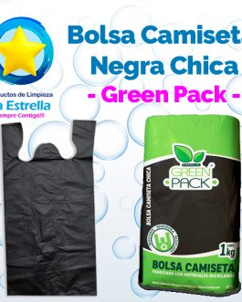 BOLSA CAMISETA NEGRA CHICA // GREEN PACK