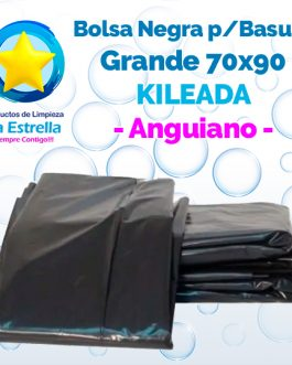 BOLSA NEGRA P/BASURA GRANDE 70×90 KILEADA // ANGUIANO