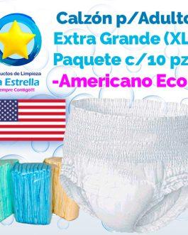 CALZON ADULTO EXTRA GRANDE – XL (PAQ. 10 PZS) // AMERICANO ECONÓMICO