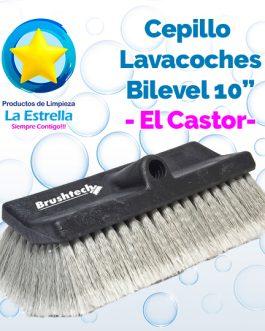 CEPILLO LAVACOCHES PLASTICO-PVC BILEVEL 10″ // EL CASTOR