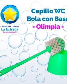 CEPILLO WC BOLA CON BASE // OLIMPIA***