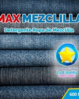 DETERGENTE MAX MEZCLILLA (ENVASADO 600 ML)