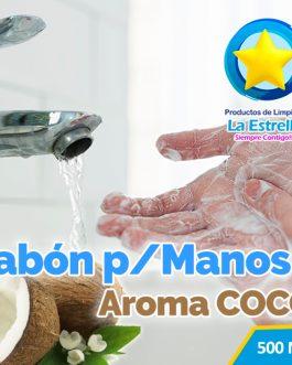 JABON LIQUIDO ANTIBACTERIAL P/MANOS AROMA COCO (EMBOLSADO 500ML)
