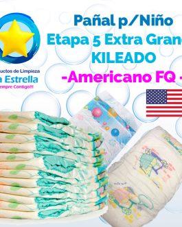 PAÑAL NIÑO ETAPA 5 – EXTRA GRANDE KILEADO // AMERICANO FQ