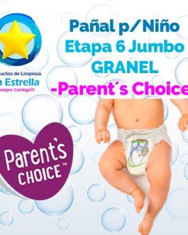 PAÑAL NIÑO ETAPA 6 – JUMBO GRANEL // PARENT´S CHOICE
