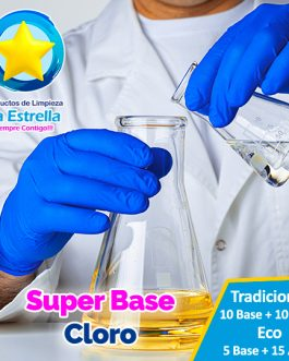 SUPER BASE CLORO (ECO: 5+15 AGUA — TRAD: 10+10 AGUA)