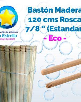 BASTON MADERA ECO 1.20 MTS C/ROSCA ESTANDAR 7/8″ (TRADICIONAL)