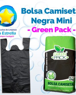 BOLSA CAMISETA NEGRA MINI // GREEN PACK