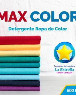 DETERGENTE MAX COLOR TRADICIONAL (ENVASADO 600 ML)