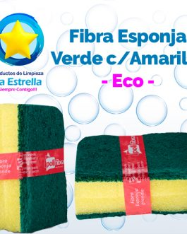 FIBRA ESPONJA VERDE/AMARILLO ECO (2 Piezas)***