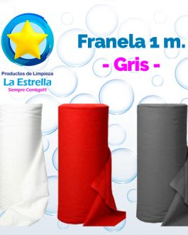 FRANELA GRIS 1 M.