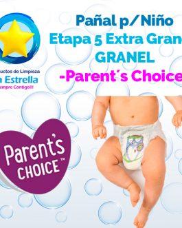 PAÑAL NIÑO ETAPA 5 – EXTRA GRANDE GRANEL // PARENT´S CHOICE