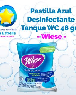 PASTILLA AZUL DESINFECTANTE P/TANQUE WC 48 GRS. // WIESE