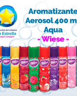 AROMATIZANTE AEROSOL AQUA 323 GRS-400ML // WIESE
