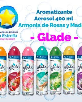 AROMATIZANTE AEROSOL ARMONIA DE ROSAS Y MADERA 345 g.- 400 ml // GLADE