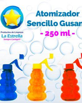 ATOMIZADOR SENCILLO TIPO GUSANO 250 ML***