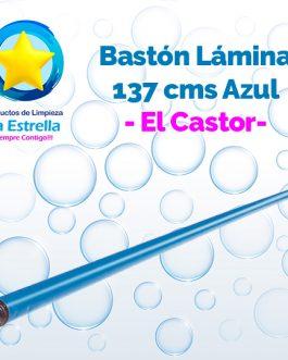 BASTON LAMINA 1.37 M. ROSCA PLASTICO 3/4 » AZUL // EL CASTOR