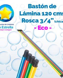 BASTON LAMINA ECO 1.2 M ROSCA PLASTICO 3/4″ (CHICA)