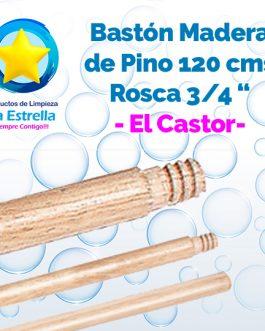 BASTON PINO 1.20 MTS C/ROSCA 3/4″ // EL CASTOR