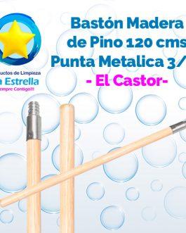 BASTON PINO 1.20 MTS. ROSCA METALICA 3/4 » // EL CASTOR