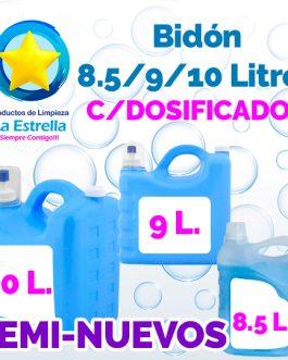 BIDON USADO 8.5/9/10 LITROS C/DOSIFICADOR
