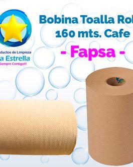 BOBINA TOALLA ROLLO P/MANOS CAFE 160 MTS // FAPSA **PIEZA**