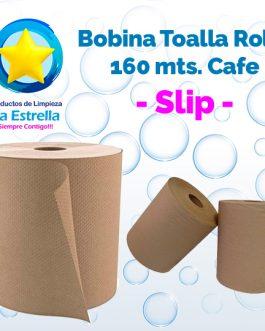 BOBINA TOALLA ROLLO P/MANOS CAFE 160 MTS. // SLIP **PIEZA**