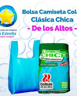 BOLSA CAMISETA COLOR CLASICA CHICA // DE LOS ALTOS