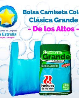 BOLSA CAMISETA COLOR CLASICA GRANDE // DE LOS ALTOS