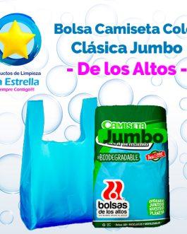BOLSA CAMISETA COLOR CLASICA JUMBO // DE LOS ALTOS