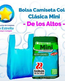 BOLSA CAMISETA COLOR CLASICA MINI // DE LOS ALTOS