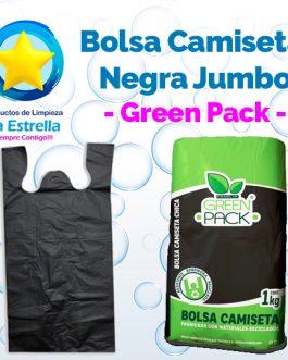 BOLSA CAMISETA NEGRA JUMBO // GREEN PACK