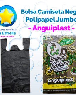 BOLSA CAMISETA NEGRA POLIPAPEL JUMBO // ANGUIPLAST