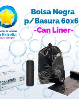 BOLSA NEGRA P/BASURA 60×60 CMS (24″x24″) – ROLLO C/50 PZS // CAN LINER