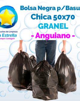 BOLSA NEGRA P/BASURA CHICA 50×70 CUBETERA GRANEL // ANGUIANO