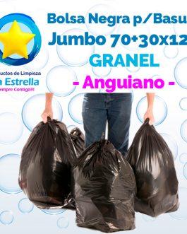 BOLSA NEGRA P/BASURA JUMBO 70+30×120 GRANEL // ANGUIANO