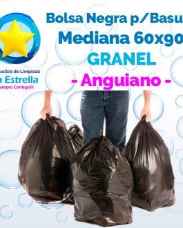 BOLSA NEGRA P/BASURA MEDIANA 60×90 GRANEL // ANGUIANO