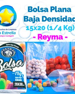 BOLSA PLANA 15×20 (CAP. 1/4 KG) // REYMA