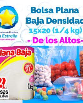 BOLSA PLANA 15×20 (CAP. 1/4 KG) // ALTOS