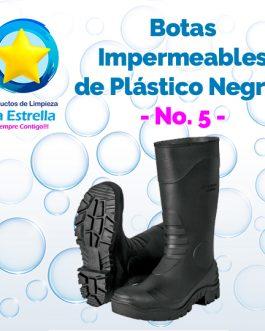 BOTAS PLASTICO NEGRO LARGAS #5 ***