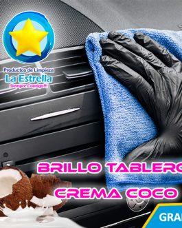 BRILLO TABLERO TRADICIONAL EN CREMA AROMA COCO