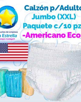 CALZON ADULTO JUMBO – XXL (PAQ. 10 PZS) // AMERICANO ECONÓMICO