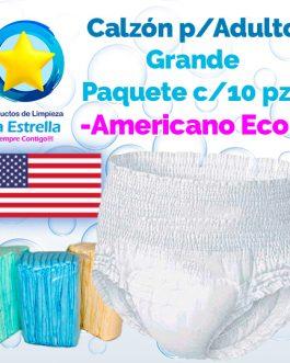 CALZON ADULTO GRANDE (PAQ. 10 PZS) // AMERICANO ECONÓMICO