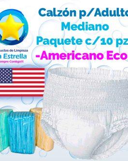 CALZON ADULTO MEDIANO (PAQ. 10 PZS) // AMERICANO ECONÓMICO