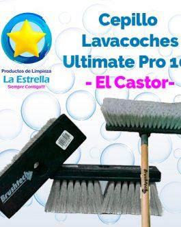 CEPILLO LAVACOCHES PLASTICO NEGRO/PVC GRIS 10″ ULTIMATE PRO // EL CASTOR
