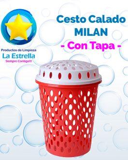 CESTO CALADO MILAN P/ROPA C/ TAPA