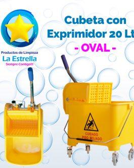 CUBETA CON EXPRIMIDOR CAP. 20 LITROS // OVAL